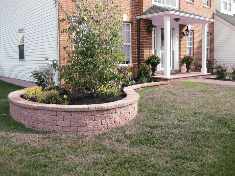 New Front Retaining Wall Nickett Landscaping