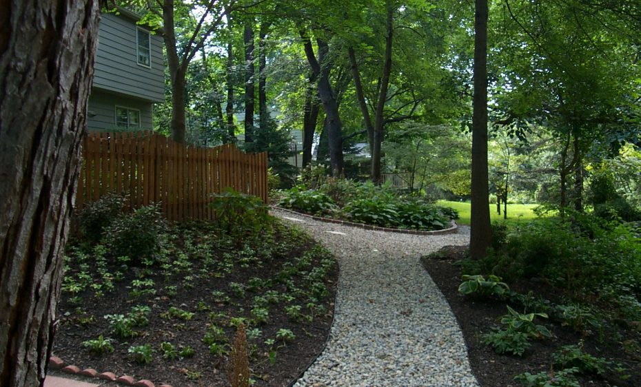 wooded stone path